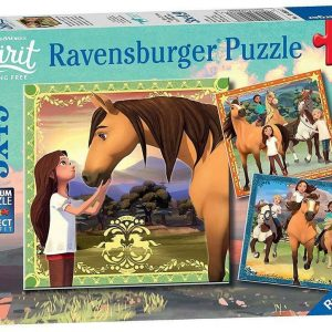 DreamWorks - Spirit Riding Free - Adventures on Horses 3 x 49 Piece Jigsaw Puzzle - Ravensburger