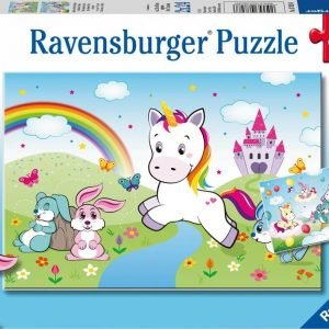 Fairytale Unicorn 2 x 24 Piece Jigsaw Puzzle - Ravensburger