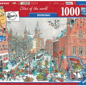Fleroux Cities of the World - Amsterdam in Winter 1000 Piece Jigsaw Puzzle - Ravensburger