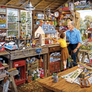 Grandad's workshop 500XL Piece Jigsaw Puzzle - Gibsons