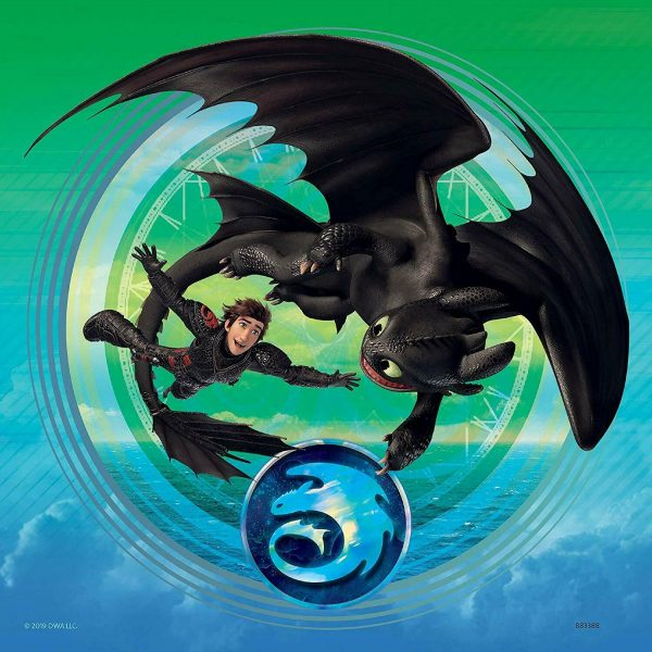 How to Train Your Dragon 3 x 49 Piece Jigsaw Puzzle - Ravensburger