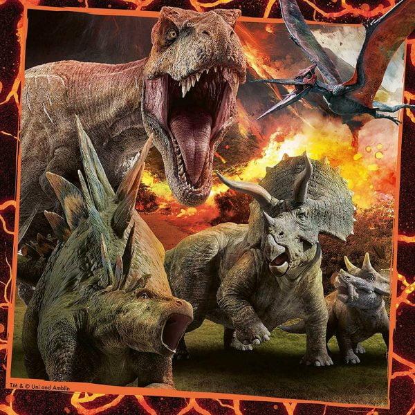 Jurassic World Instinct to Hunt 3 x 49 Piece Jigsaw Puzzles - Ravensburger