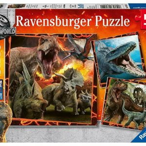 Jurassic World - Instinct to Hunt 3 x 49 Piece Jigsaw Puzzles - Ravensburger