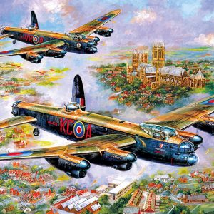 Lancasters over Lincoln 500 Piece Jigsaw Puzzle
