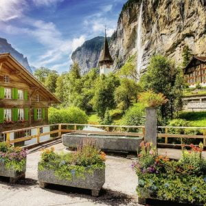 Lauterbrunnen, Switzerland 500 Larger Piece Puzzle - Ravensburger