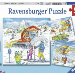 Let's Go Skiing 3 x 49 Piece Jigsaw Puzzle - Ravensburger