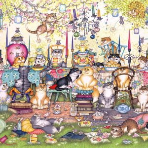 Mad Catter's Tea Party 1000 Piece Jigsaw Puzzle - Gibsons