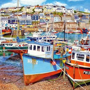 Mevagissey Harbour 1000 Piece Jigsaw Puzzle - Gibsons