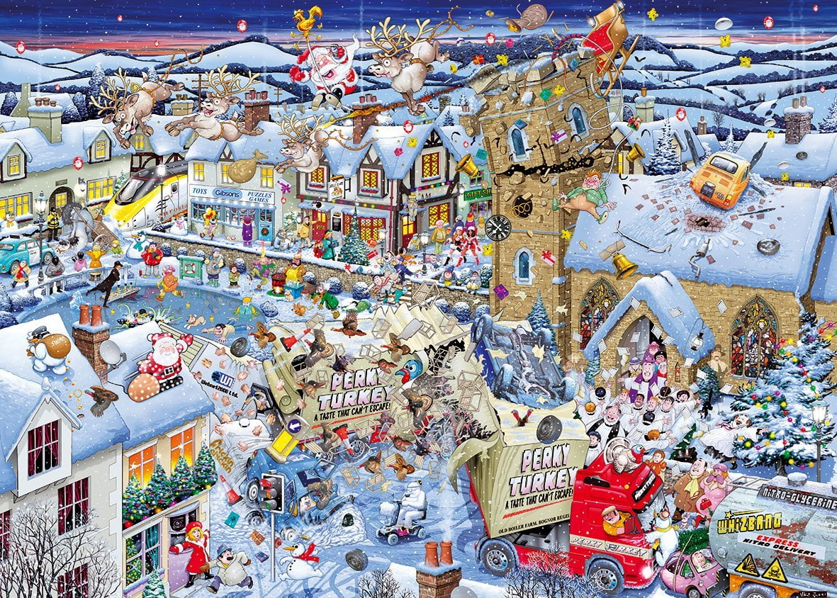 Christmas Jigsaw Puzzles.Mike Jupp I Love Christmas 1000 Piece Jigsaw Puzzle Gibsons