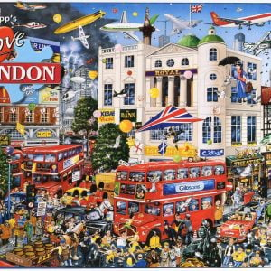 Mike Jupp - I Love London 1000 Piece Jigsaw Puzzle - Gibsons