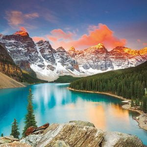 Moraine Lake, Banff National Park Canada 1000 Piece Jigsaw Puzzle - Educa