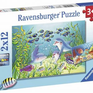 On the Seabed 2 x 12 Piece Jigsaw Puzzle - Ravensburger