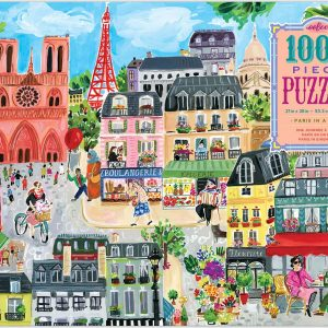 Paris in a Day 1000 Piece Jigsaw Puzzle - eeboo