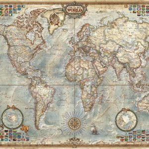 Political Map of the World 1500 Piece Jigsaw Puzzle - Educa