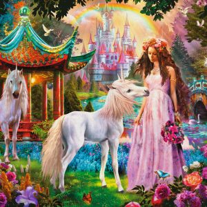 Princess and Unicorn Glitter 100 XXL Piece Jigsaw Puzzle - Ravensburger