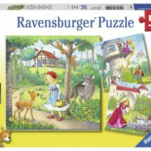 Rapunzel, Riding Hood and Frog 3 x 49 Piece Jigsaw Puzzle - Ravensburger
