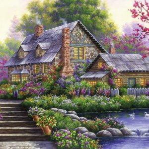 Romantic Cottage 1000 Piece Jigsaw Puzzle - Ravensburger