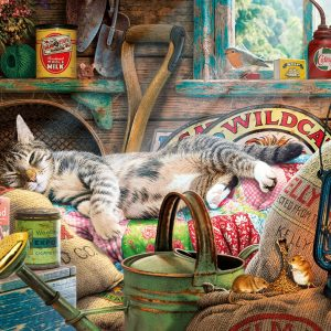 Snoozing in the Shed 1000 Piece Jigsaw Puzzle - Gibsons