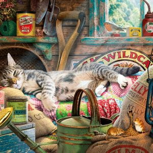 Snoozing in the Shed 500XL Piece Jigsaw Puzzle - Gibsons