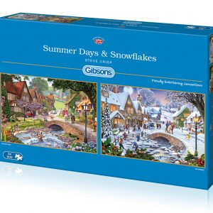 Summer Days & Snowflakes 2 x 500 Piece Jigsaw Puzzle - Gibsons