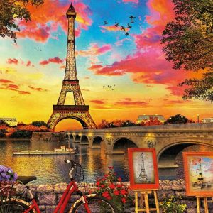 Sunset in Paris 3000 Piece Jigsaw Puzzle - Educa