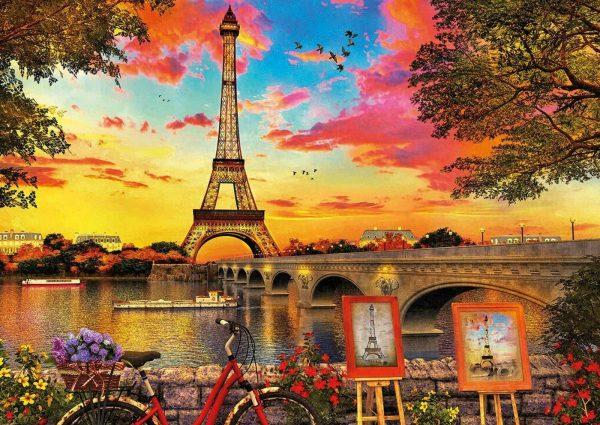 Sunset in Paris 3000 Piece Jigsaw Puzzle - Educa