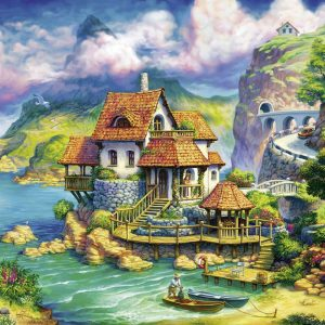 The Cliff House 1000 Piece Jigsaw Puzzle - Ravensburger