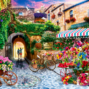 The Flower Market 1000 Piece Jigsaw Puzzle - Anatolian