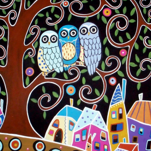 Three Owls 500 Piece Jigsaw Puzzle - Anatolian