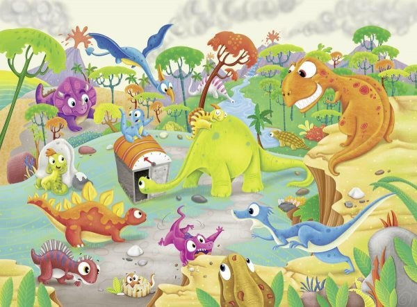 Time Travelling Dinos 60 Piece Jigsaw Puzzle - Ravensburger