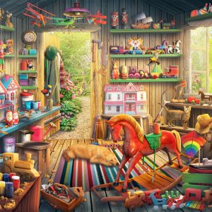 Toymakers Shed 260 Piece Jigsaw Puzzle - Anatolian