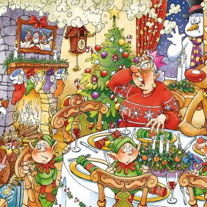 Wasgij 13 Christmas - Turkey's Delight 1000 Piece Jigsaw Puzzle - Holdson