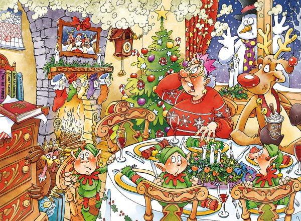 Wasgij 13 Christmas - Turkey's Delight 1000 Piece Jigsaw Puzzle - Holdson