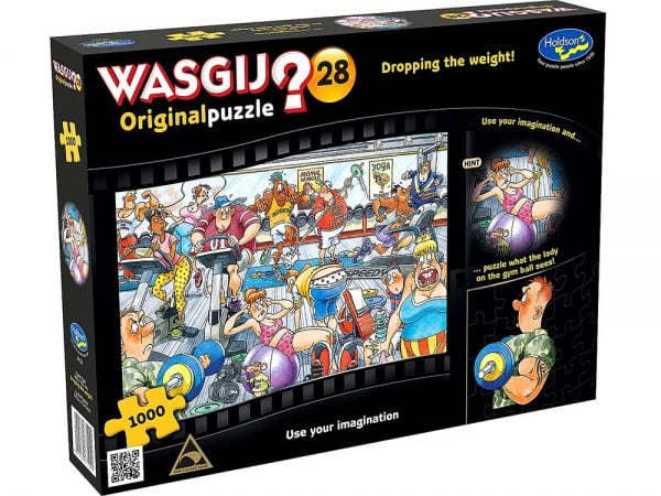 Wasgij Original 28 - Dropping the Weight 1000 Piece Jigsaw Puzzle - Holdson