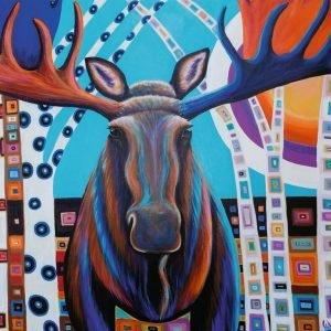 Winter Moose 1000 Piece Jigsaw Puzzle - Ravensburger