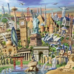 World Landmarks 1000 Piece Jigsaw Puzzle - Ravensburger