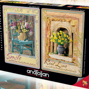 Smile - Real Love 2 x 500 Piece Jigsaw Puzzles - Anatolian