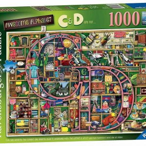 Awesome Alphabet C & D 1000 Piece Jigsaw Puzzle - Ravensburger