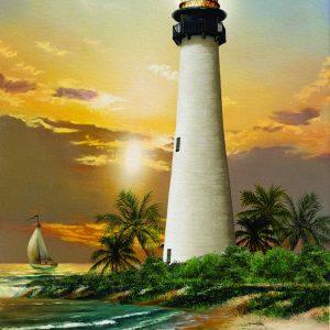 Cape Florida Lighthouse 500 Piece Jigsaw Puzzle - Sunsout