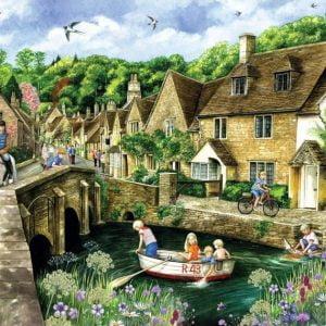 Castle Combe Wiltshire 1000 Piece Jigsaw Puzzle - Falcon de luxe