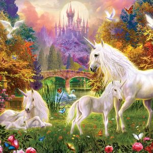 Castle Unicorn 1000 Piece Jigsaw Puzzle - Sunsout