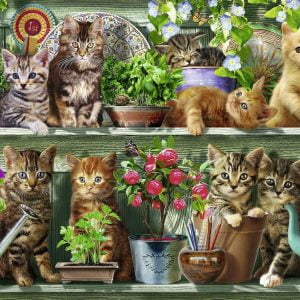 Cats on the Shelf 500 Piece Jigsaw Puzzle - Ravensburger