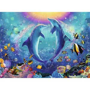Dancing Dolphins 500 Piece Jigsaw Puzzle - Ravensburger