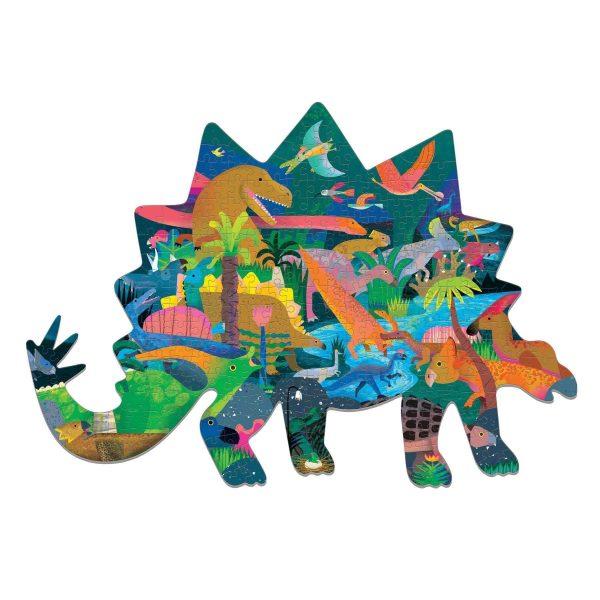 Dinosaurs Shaped Scene 300 Piece Jigsaw Puzzle - Mudpuppy