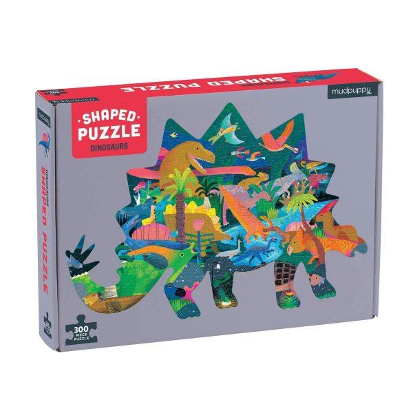 Dinosaurs Shaped Scene Puzzle 300 Piece - Mudpuppy