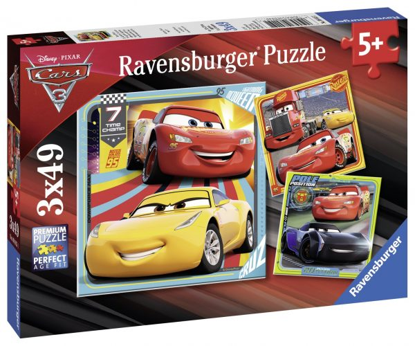 Disney Cars 3 - Legends of the Track 3 x 49 Piece Jigsaw Puzzle - Ravensburger
