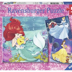 Disney Princess - Princesses Adventure 3 x 49 Piece Jigsaw Puzzle - Ravensburger