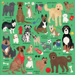Doodle Dogs and Other Mixed Breeds 500 Piece Family Puzzle - Mudpuppy