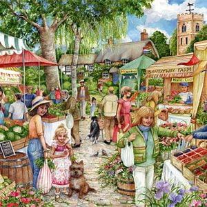 Farmer's Market 1000 Piece Jigsaw Puzzle - Falcon de luxe