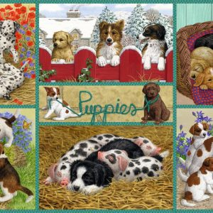 Happy Puppies 500 Piece Jigsaw Puzzle - Falcon de luxe